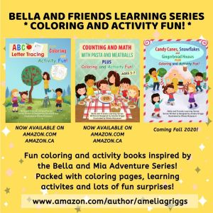 Bella and Friends Learning Series Coloring and Activity Books